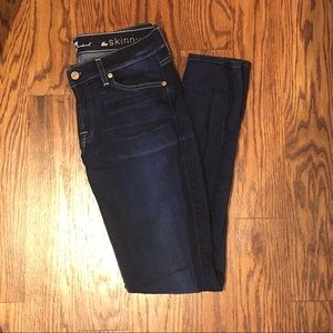 """7 For All Mankind """"The Skinny"""" Dark Wash Jeans"""